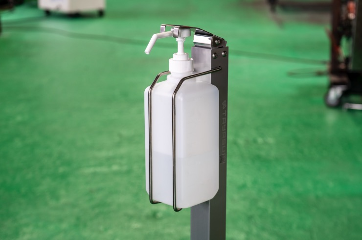 消毒液(除菌)ボトルの取り付け部分